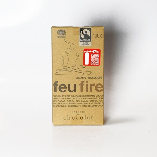 Picture of Galerie au Chocolat Fairtrade Dark Chocolate Fire Bar, 8x100g