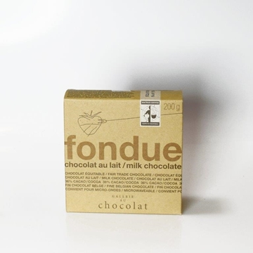 Picture of  Galerie au Chocolat Fairtrade  Milk Chocolate Fondue, 200g
