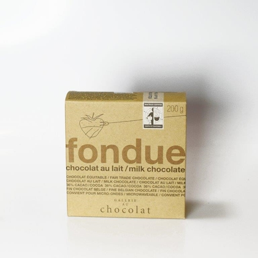 Picture of Galerie au Chocolat Galerie au Chocolat Fairtrade  Milk Chocolate Fondue, 200g