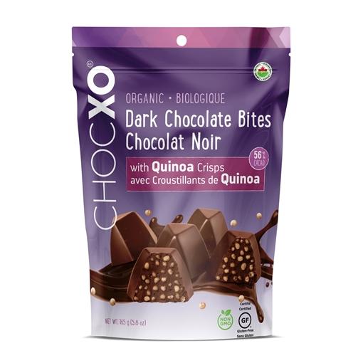 Picture of ChocXO ChocXO 56% Organic Dark Chocolate Quinoa Bites, 165g