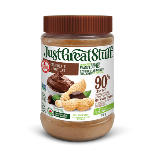 Picture of Betty Lou's Inc. Betty Lou's Powdered Organic Peanut Butter, Chocolate 180g