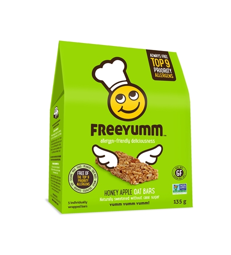 Picture of FreeYumm Honey Apple Oat Bars, 6x135g