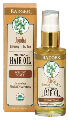 Picture of Badger Balm Badger Hair Oil, Jojoba 59.1ml