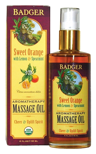 Picture of Badger Balm Aromatherapy Massage Oil, Orange 118ml