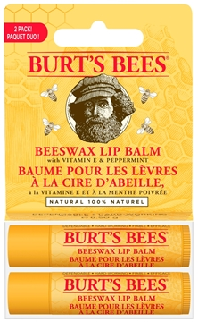Picture of  Burt's Bees Beeswax Lip Balm Box, 2x4.25g