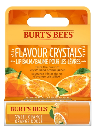 Picture of Burts Bees Burt's Bees Flavour Crystals Lip Balm, Orange 4.25g