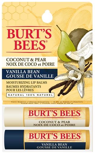 Picture of Burts Bees Burt's Bees Lip Balm, Coconut & Pear/Vanilla Bean 2-Pack