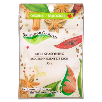 Picture of  Splendor Garden Organic Taco Seasoning, 35g