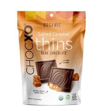 Picture of ChocXO ChocXO Organic Dark Chocolate Caramel Thins, 120g