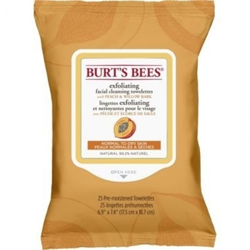 Picture of Burts Bees Burt's Bees Facial Cleansing Towelettes, Peach 25 Wipes
