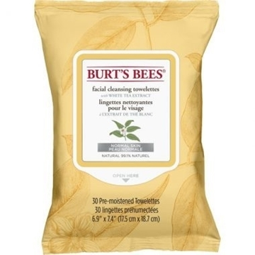 Picture of Burts Bees Burt's Bees Facial Cleansing Towelettes, White Tea 30 Wipes