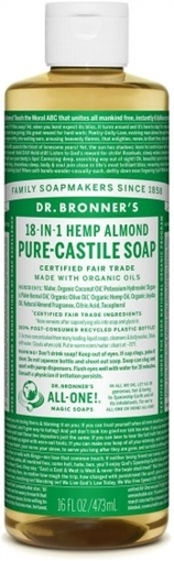 Picture of Dr. Bronner Dr. Bronner's Pure-Castile Liquid Soap, Almond 473ml