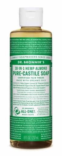 Picture of Dr. Bronner Dr. Bronner's Pure-Castile Liquid Soap, Almond 237ml