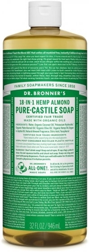 Picture of Dr. Bronner Dr. Bronner's Pure-Castile Liquid Soap, Almond 946ml