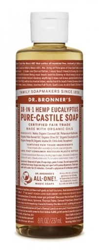 Picture of Dr. Bronner Dr. Bronner's Pure-Castile Liquid Soap, Eucalyptus 237ml
