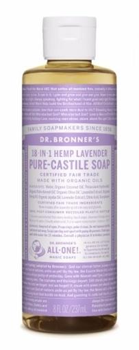 Picture of Dr. Bronner Dr. Bronner's Pure-Castile Liquid Soap, Lavender 237ml
