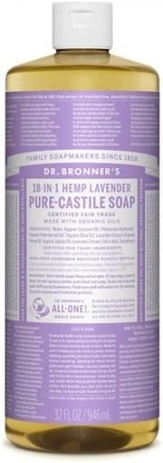 Picture of Dr. Bronner Dr. Bronner's Pure-Castile Liquid Soap, Lavender 946ml