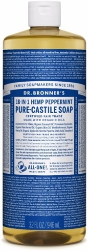 Picture of Dr. Bronner Dr. Bronner's Pure-Castile Liquid Soap, Peppermint 946ml