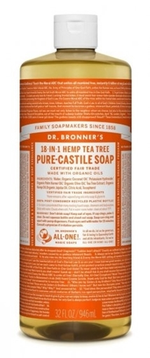 Picture of Dr. Bronner Dr. Bronner's Pure-Castile Liquid Soap, Tea Tree 946ml