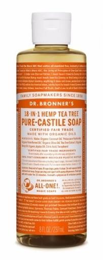 Picture of Dr. Bronner Dr. Bronner's Pure-Castile Liquid Soap, Tea Tree 237ml