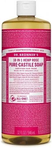 Picture of Dr. Bronner Dr. Bronner's Pure-Castile Liquid Soap, Rose 946ml