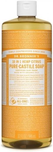 Picture of Dr. Bronner Dr. Bronner's Pure-Castile Liquid Soap, Citrus 946ml
