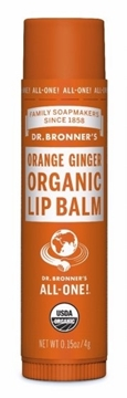 Picture of  Dr. Bronner's Lip Balm, Orange Ginger 4g