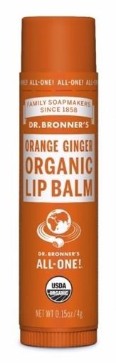 Picture of Dr. Bronner Dr. Bronner's Lip Balm, Orange Ginger 4g