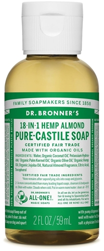 Picture of Dr. Bronner Dr. Bronner's Pure-Castile Liquid Soap, Almond 59ml