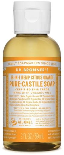 Picture of Dr. Bronner Dr. Bronner's Pure-Castile Liquid Soap, Citrus 59ml