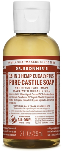 Picture of Dr. Bronner Dr. Bronner's Pure-Castile Liquid Soap, Eucalyptus 59ml