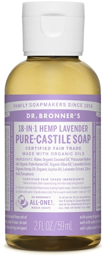 Picture of Dr. Bronner Dr. Bronner's Pure-Castile Liquid Soap, Lavender 59ml