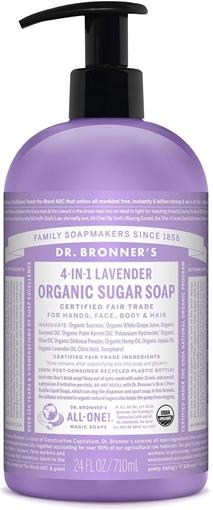 Picture of Dr. Bronner Dr. Bronner's Organic Sugar Pump Soap, Lavender 710ml