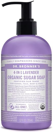 Picture of Dr. Bronner Dr. Bronner's Organic Sugar Pump Soap, Lavender 355ml