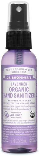 Picture of Dr. Bronner Dr. Bronner's Hand Sanitizer, Lavender 59ml