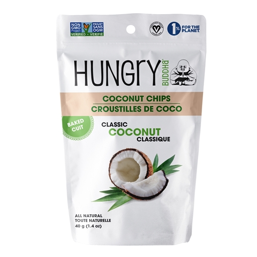 Picture of Buddha Brands Co. Hungry Buddha Coconut Chips, Classic Coconut 40g