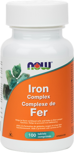 Picture of NOW Foods Iron Complex, 100 Tablets