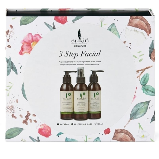 Picture of Sukin Sukin 3 Step Facial  Gift Set, 3-Pack