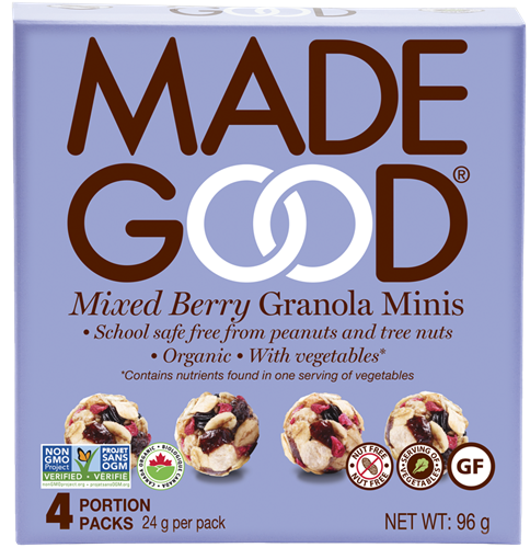Picture of Made Good Mixed Berry Granola Minis, 6x4x24g