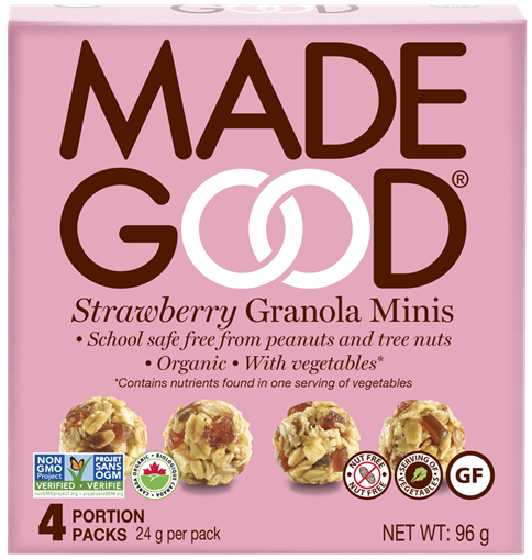 Picture of Made Good Strawberry Granola Minis, 6x4x24g