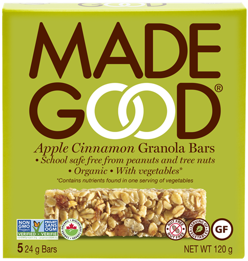 Picture of Made Good Apple Cinnamon Granola Bars, 6x5x24g