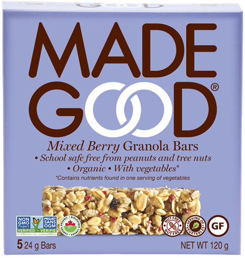 Picture of Made Good Mixed Berry Granola Bars, 6 Boxes 5x24g