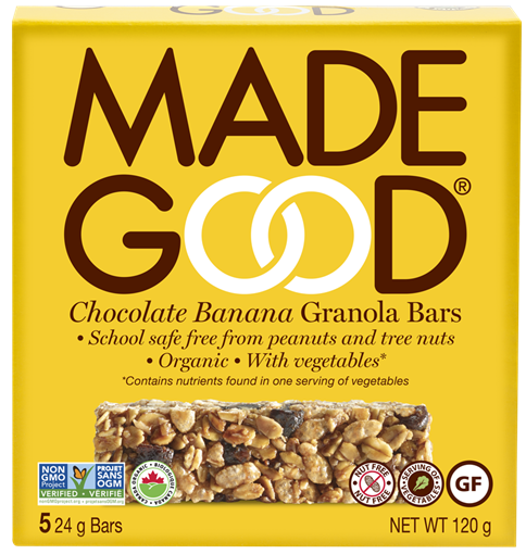 Picture of Made Good Chocolate Banana Granola Bars, 6 Boxes 5x24g