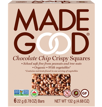 Picture of  Crispy Squares Chocolate Chip, Case of 6x132g