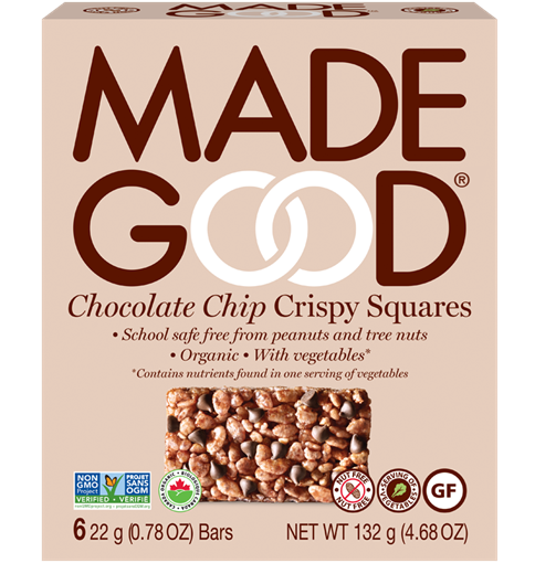 Picture of Made Good Crispy Squares Chocolate Chip, Case of 6x132g