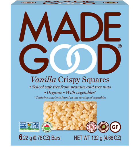 Picture of Made Good Crispy Squares Vanilla, Case of 6, 6x22g