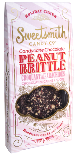 Picture of SweetSmith Candy Co. Sweetsmith Candy Co. Peanut Brittle, Candy Cane Chocolate 56g