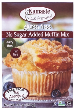 Picture of  Namaste Foods Gluten Free No Sugar Added Muffin Mix, 396g