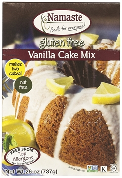 Picture of  Namaste Foods Gluten Free Vanilla Cake Mix, 737g
