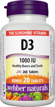Picture of  Vitamin D3, 260 Tablets